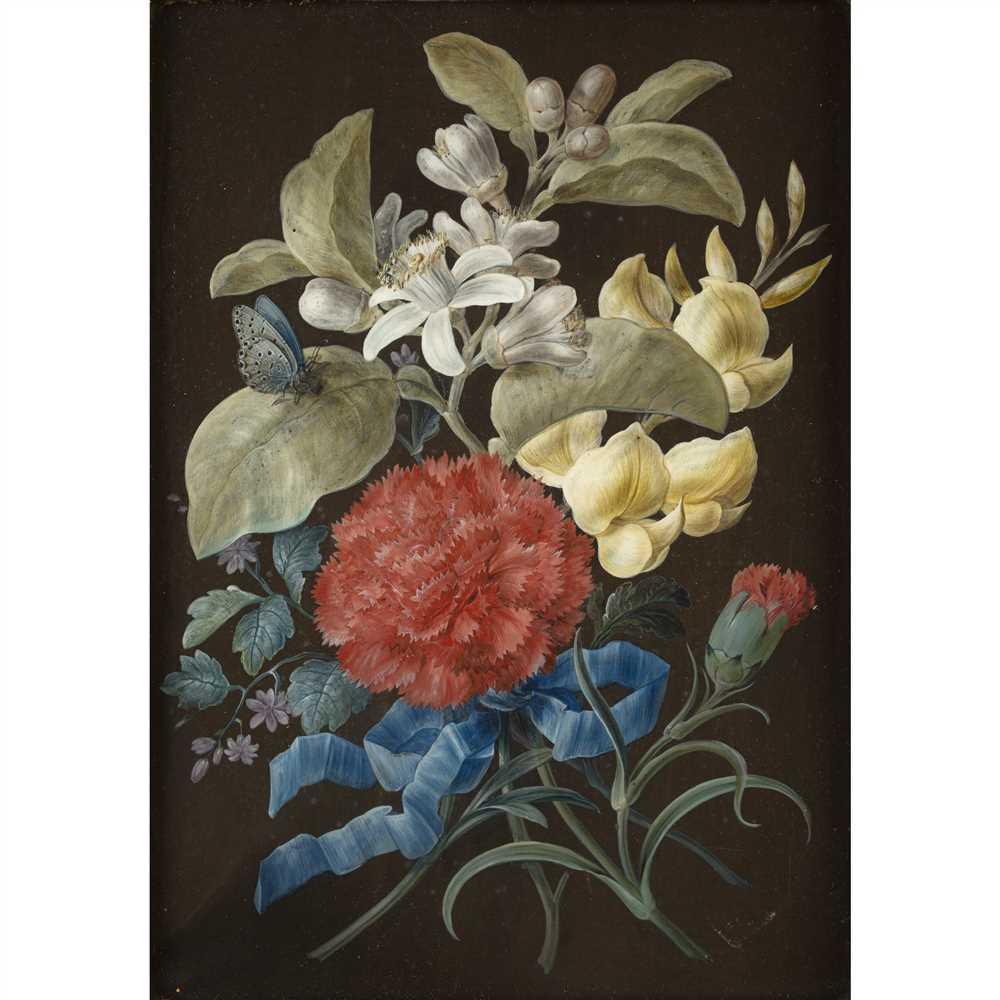 BARBARA REGINA DIETZSCH (GERMAN 1706-1783) SET OF FOUR STILL LIFES WITH BUTTERFLIES Gouache on paper - Image 9 of 9