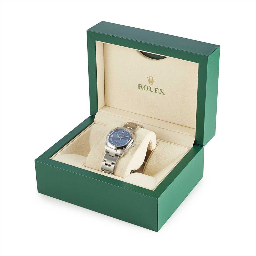Lot 142 - A mid-size stainless steel wristwatch, Rolex