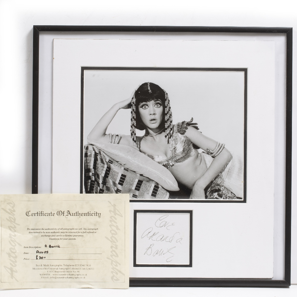 Lot 26 - SIGNATURES AND PHOTOGRAPHS RELATING TO THE 'CARRY ON' FILMS to include: Sid James, Jim Dale,