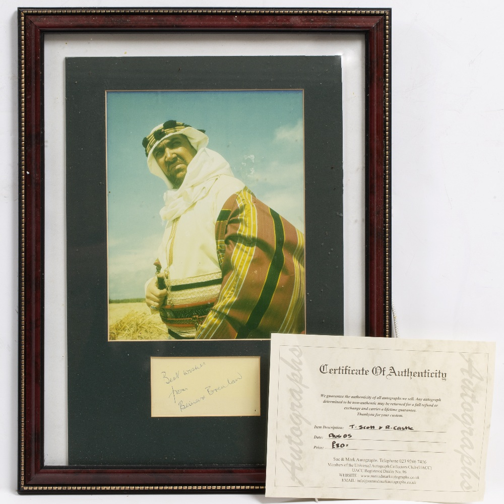 Lot 25 - SIGNATURES AND PHOTOGRAPHS RELATING TO THE 'CARRY ON' FILMS to include: Terry Scott, Roy Castle,