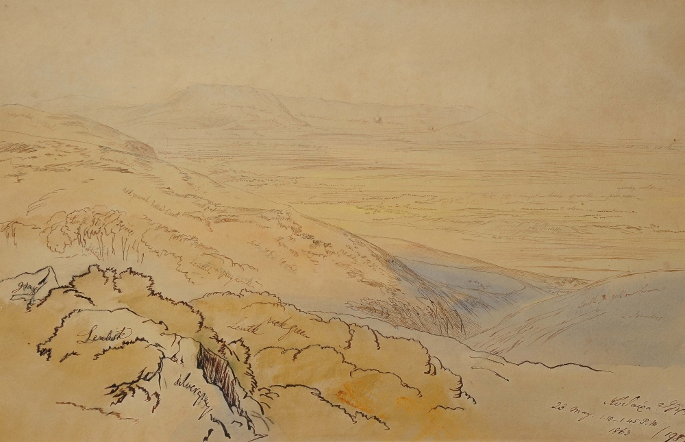 Lot 362 - EDWARD LEAR (1812-1888) The Island of Cerigo (Kythira), Greece, inscribed and dated '23 May 1.10-1.