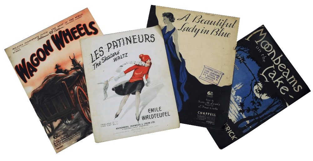 Lot 147 - A QUANTITY OF SHEET MUSIC for piano, mainly 1930's and comprising decorative covers, titles