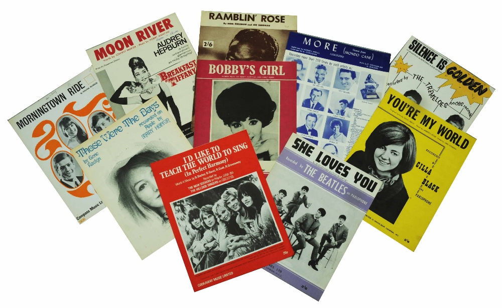 Lot 149A - A QUANTITY OF SHEET MUSIC COVERS for piano, principally 1950's and 1960's in two boxes, together