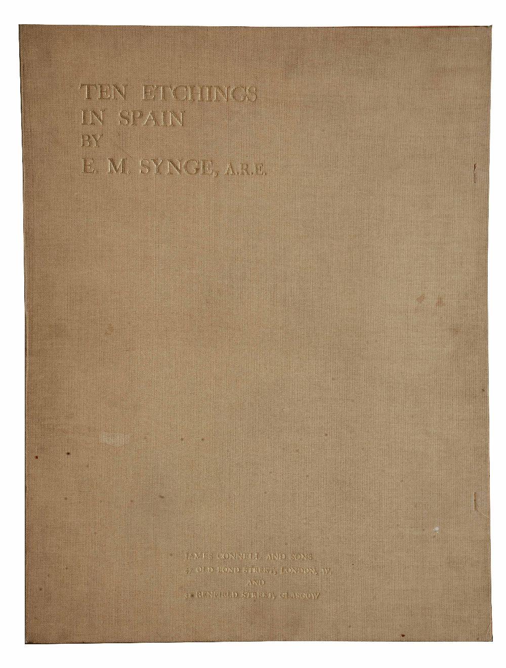 Lot 36 - EDWARD MILLINGTON SYNGE (1860-1913) 'Ten Etchings in Spain', etchings, pencil signed in the
