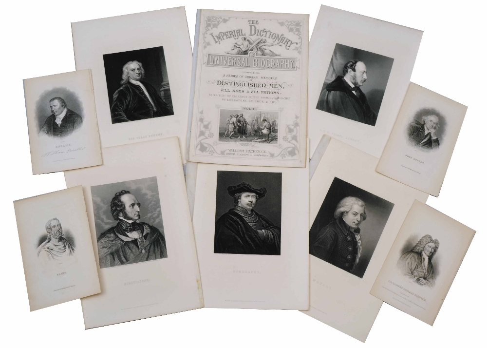 Lot 9 - A FOLIO OF VICTORIAN ENGRAVINGS of 'Portraits of Distinguished Men of all Ages and all Nations', (