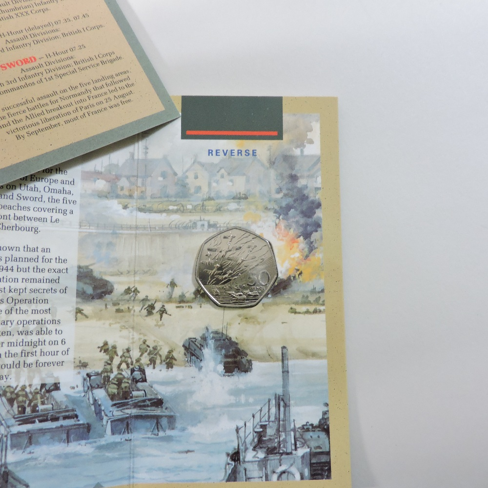 Lot 54 - A Royal Mint three-coin silver proof collection,