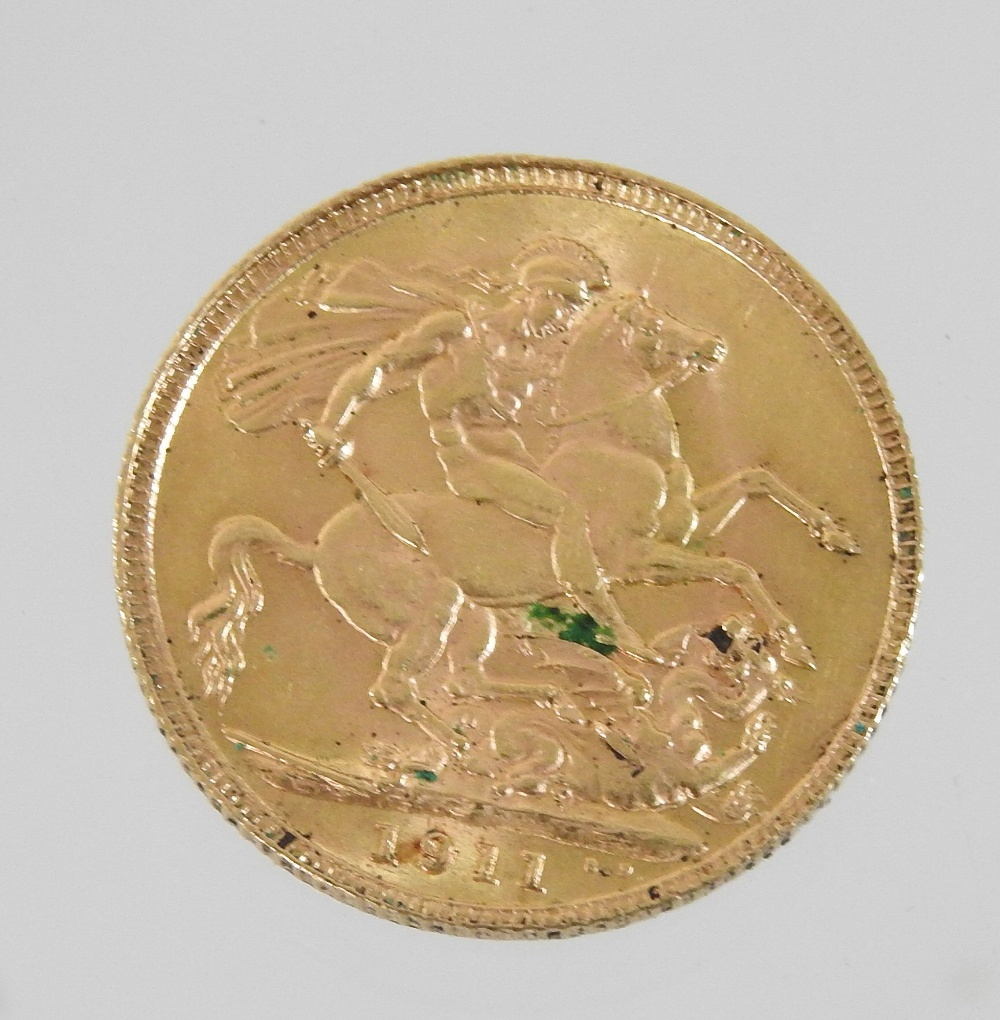 Lot 41 - Withdrawn - A George V sovereign,