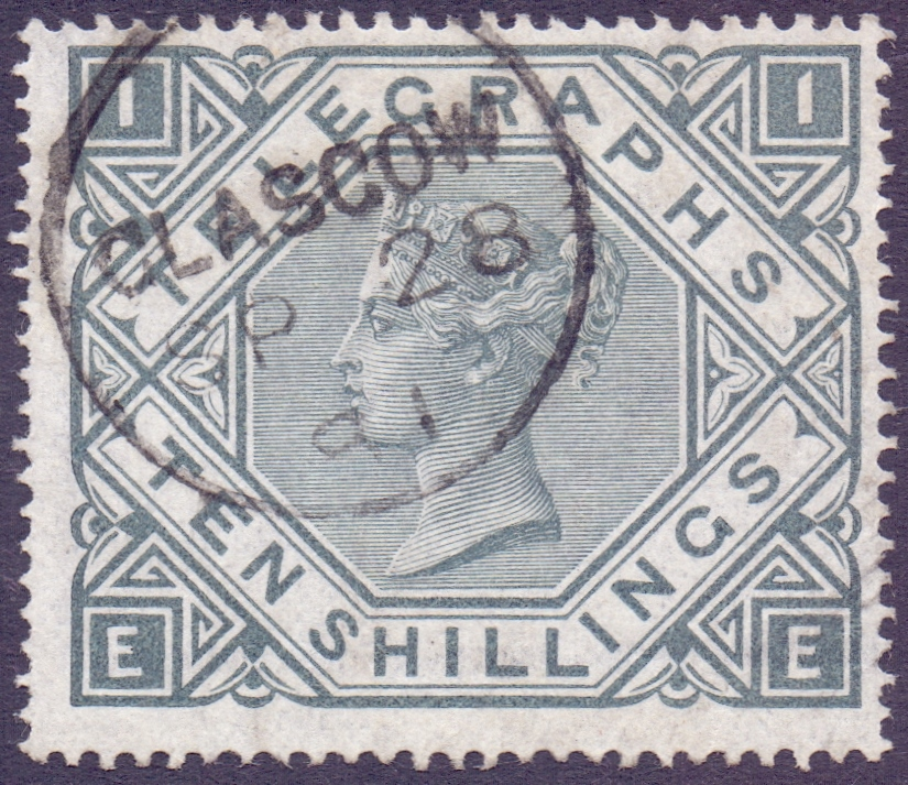 Lot 73 - STAMPS : Great Britain QV Telegraph 10/-