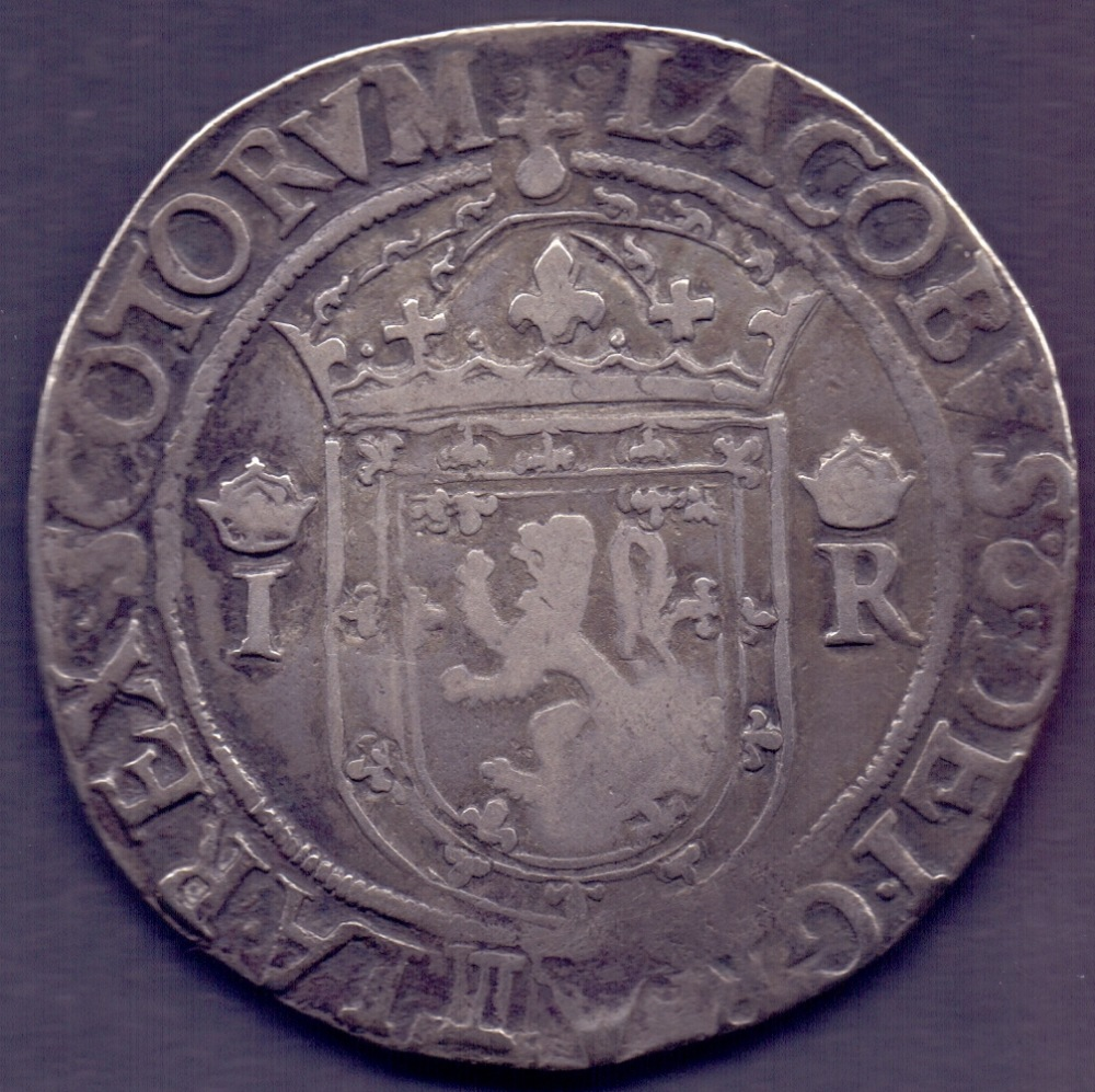 Lot 83 - COINS : 1568 James VI Scotland 30/- Ryal