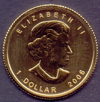 Lot 185 - COINS : 2006 Canada Maple Leaf solid .99
