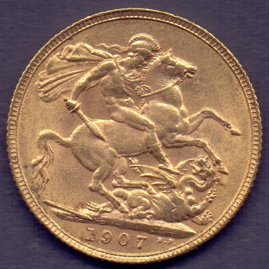 Lot 173 - COINS : 1907 EDVII Gold Sovereign in goo