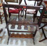 Lot 217 - A 19th century mahogany boot rack. (Worm)