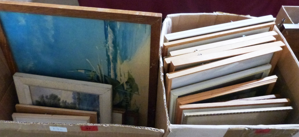 Lot 37 - Three boxes of pictures