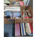 Lot 15 - A collection of books and vinyl records