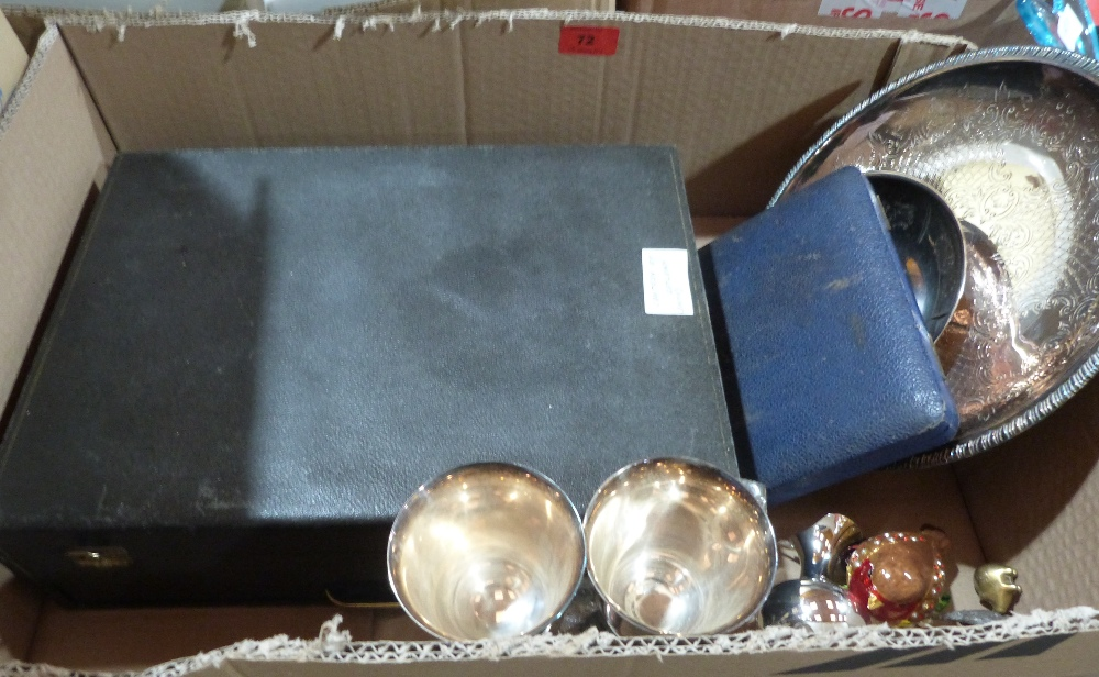 Lot 72 - Mirrors, metalware and a small watercolour by Roland Spencer-Ford