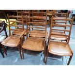 Lot 234 - Kai Kristiansen for Korup Stolefabrik Denmark. A set of six teak ladderback chairs, the set to