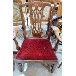 Lot 236 - A George III mahogany 'Chippendale' elbow chair. Repairs