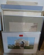 Lot 156 - A quantity of framed and unframed pictures