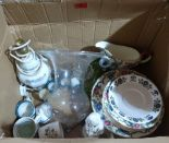 Lot 20 - A box of ceramics and glass
