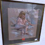 Lot 148 - JOHN FOUNTAIN. BRITISH 20TH CENTURY Nude Study. Signed. Pastel 15' x 14 1/2'