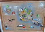 Lot 146 - A 1927 American Hydrographic office map of Tahiti and Moorea. 20' x 28'