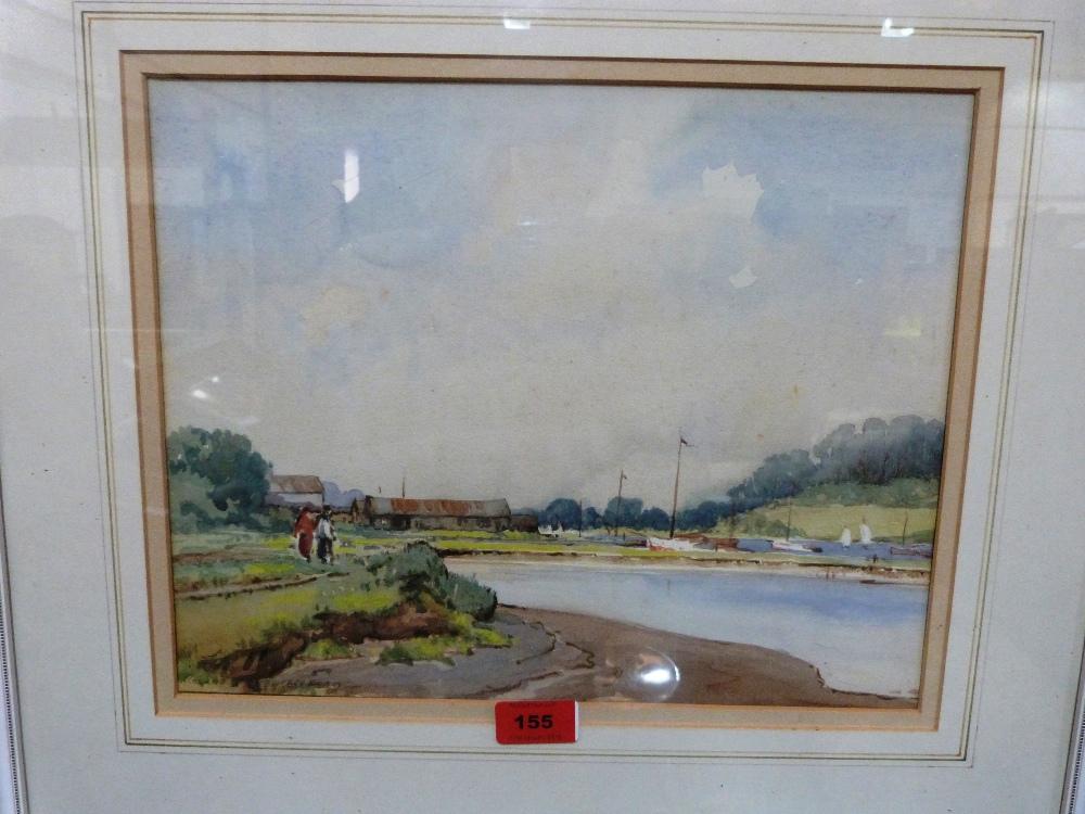 Lot 155 - ROLAND SPENCER-FORD. BRITISH 1902-1990 Woodbridge, Norfolk. Signed. Watercolour. 11' x 14'