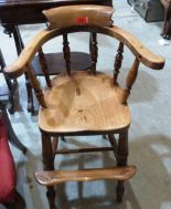 Lot 215 - A Victorian ash smoker's bow child's high chair
