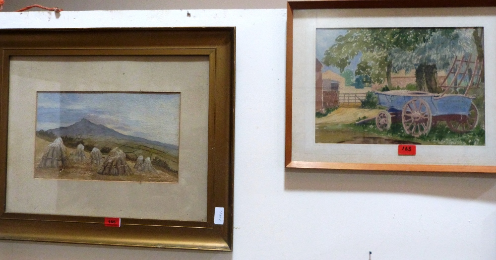 Lot 165 - Two watercolours, The Wagon and a Harvest scene