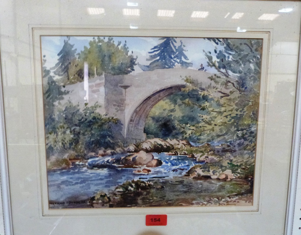 Lot 154 - ROLAND SPENCER-FORD. BRITISH 1902-1990 A Scottish scene. Signed. Watercolour. 12' x 15'