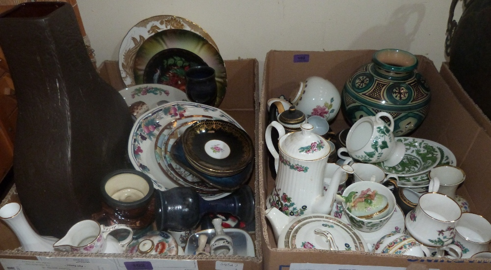 Lot 102 - Two boxes of ceramics