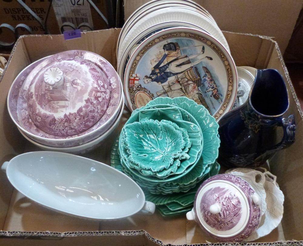 Lot 126 - A box of miscellaneous ceramics
