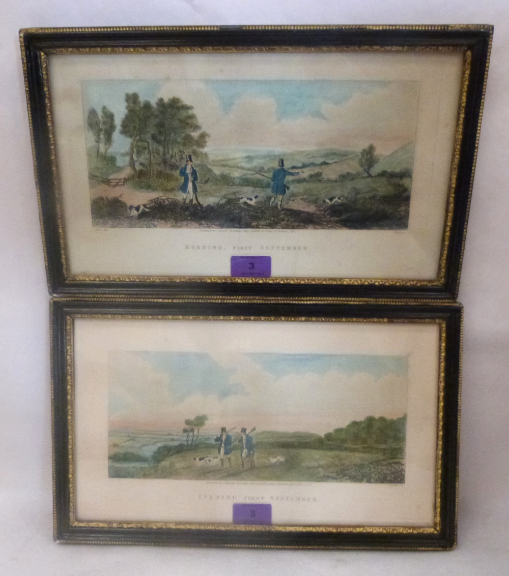 Lot 3 - A pair of shooting prints, 'Morning First September; Evening First September', pub. 1831,1932