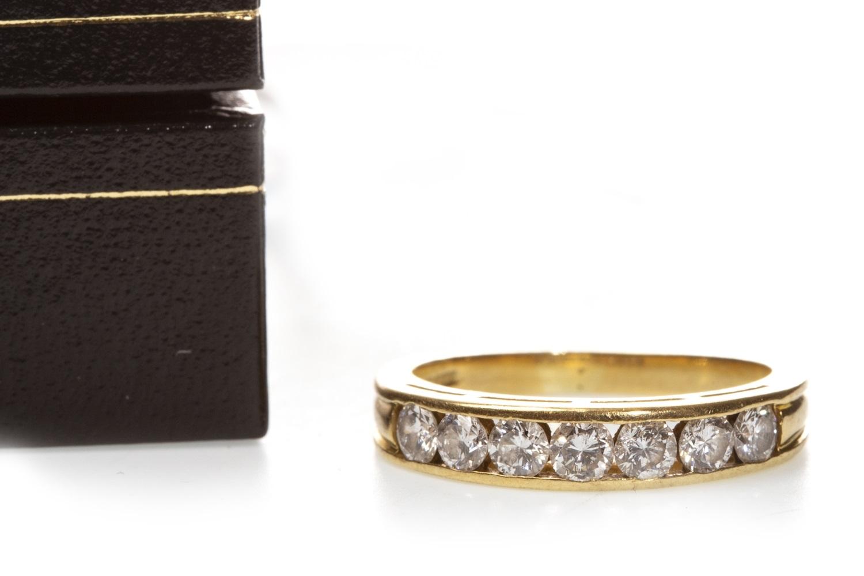 Lot 113 - A DIAMOND HALF ETERNITY RING
