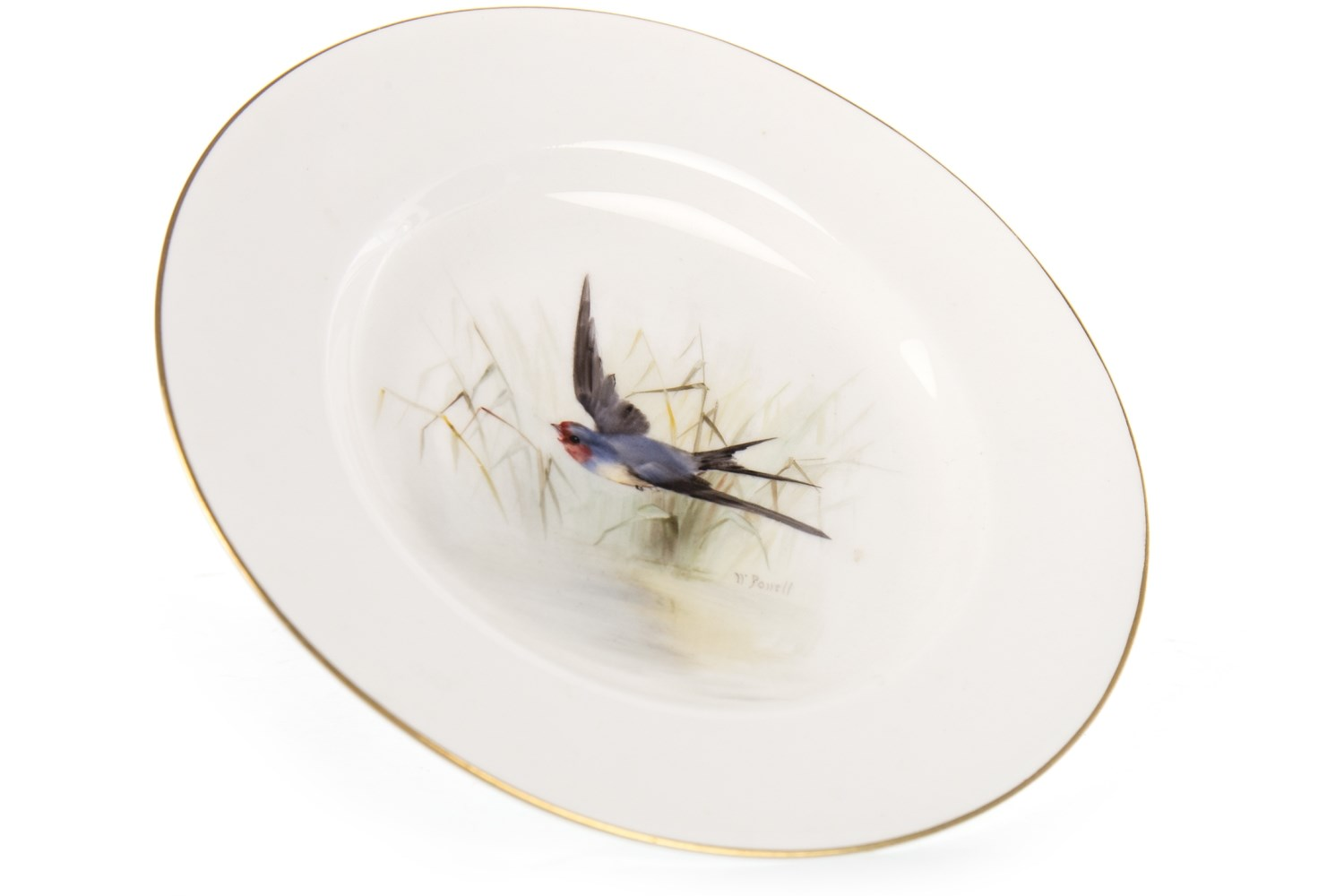 Lot 1272 - A ROYAL WORCESTER PLATE BY WILLIAM POWELL