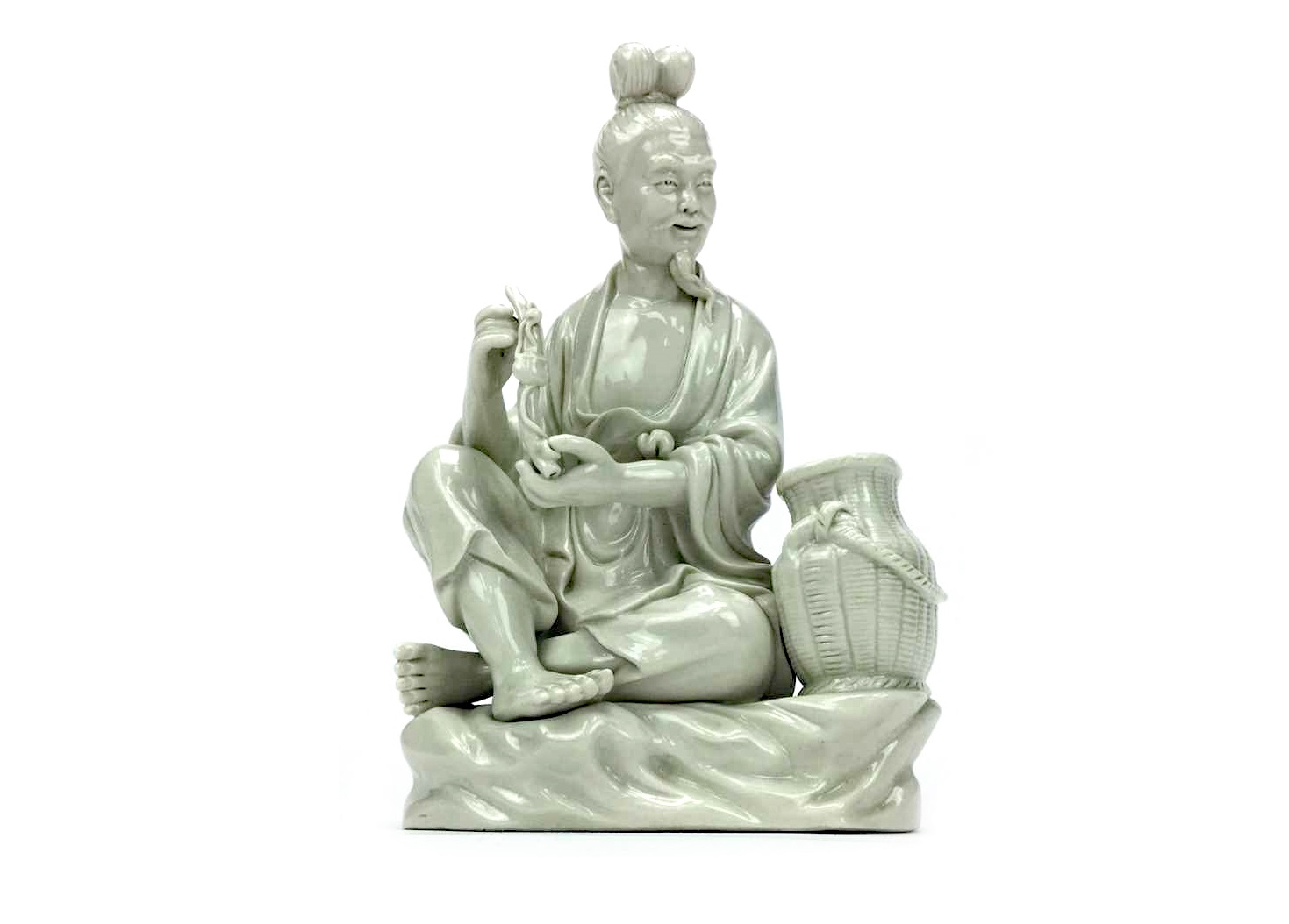 Lot 1086 - A 20TH CENTURY CHINESE BLANC DE CHINE FIGURE OF A MAN