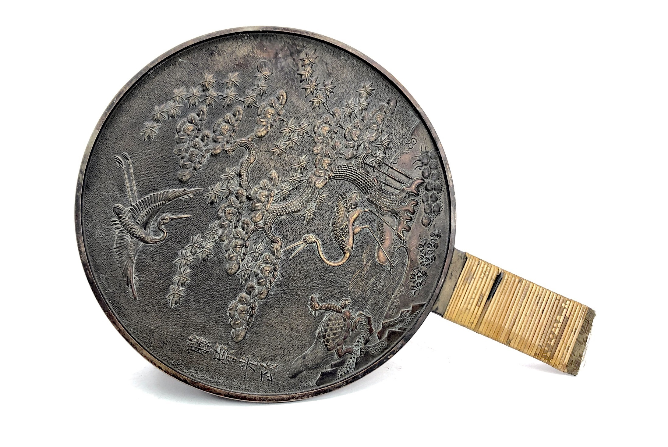 Lot 1033 - A PAIR OF EARLY/MID 20TH CENTURY CHINESE HAND MIRRORS