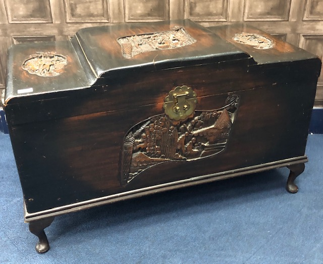 Lot 1082 - A CHINESE CAMPHORWOOD BLANKET CHEST