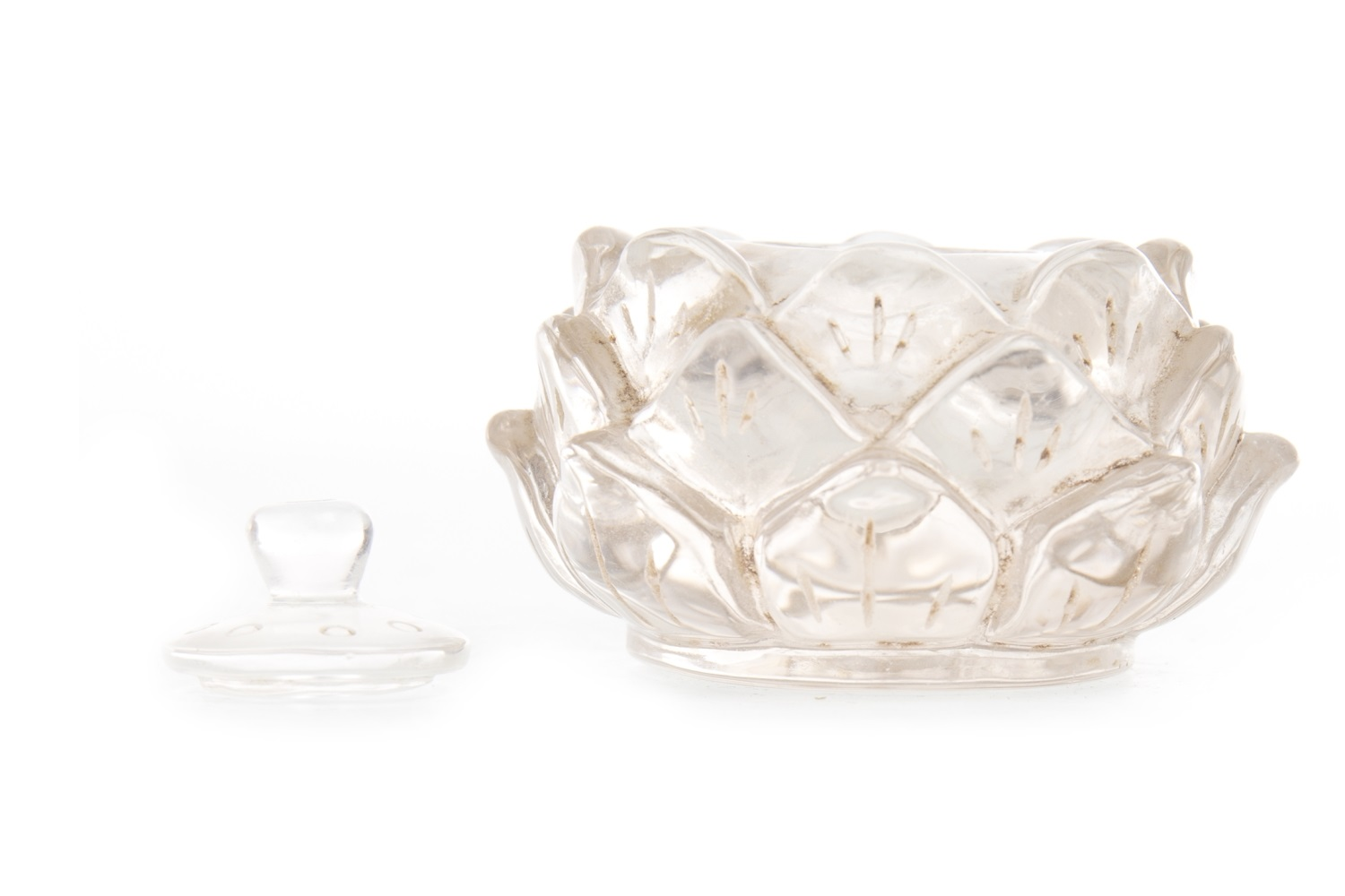 Lot 1057 - A LATE 19TH/EARLY 20TH CENTURY ROCK CRYSTAL INKWELL