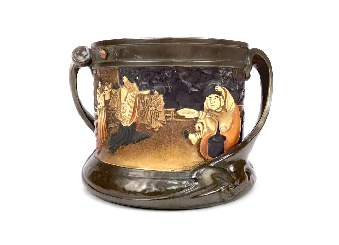 Lot 1260 - A BRETBY 'JAPONESQUE' LOVING CUP