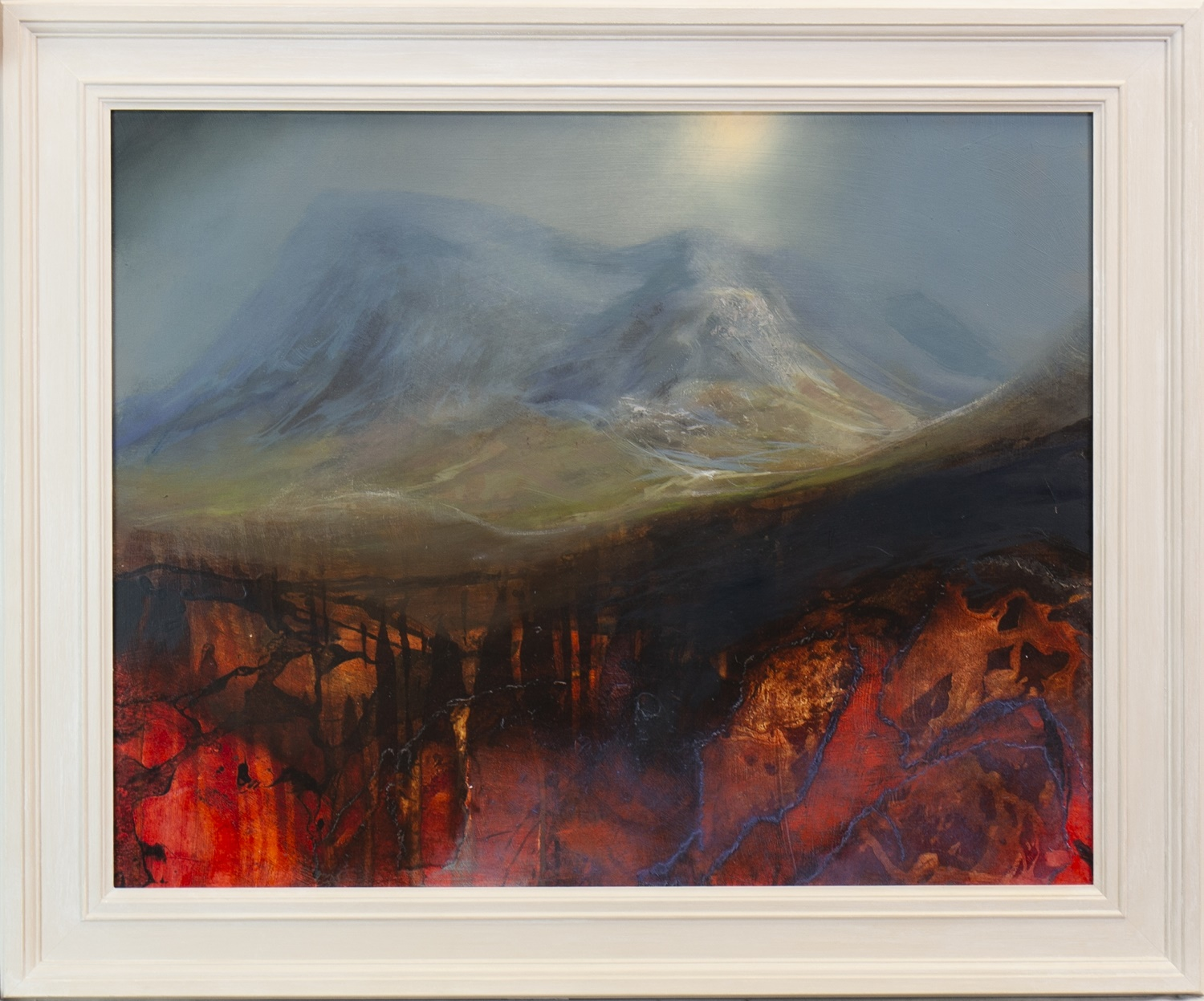 Lot 509 - BUACHAILLE ETIVE MORE, A MIXED MEDIA BY BETH ROBERTSON FIDDES