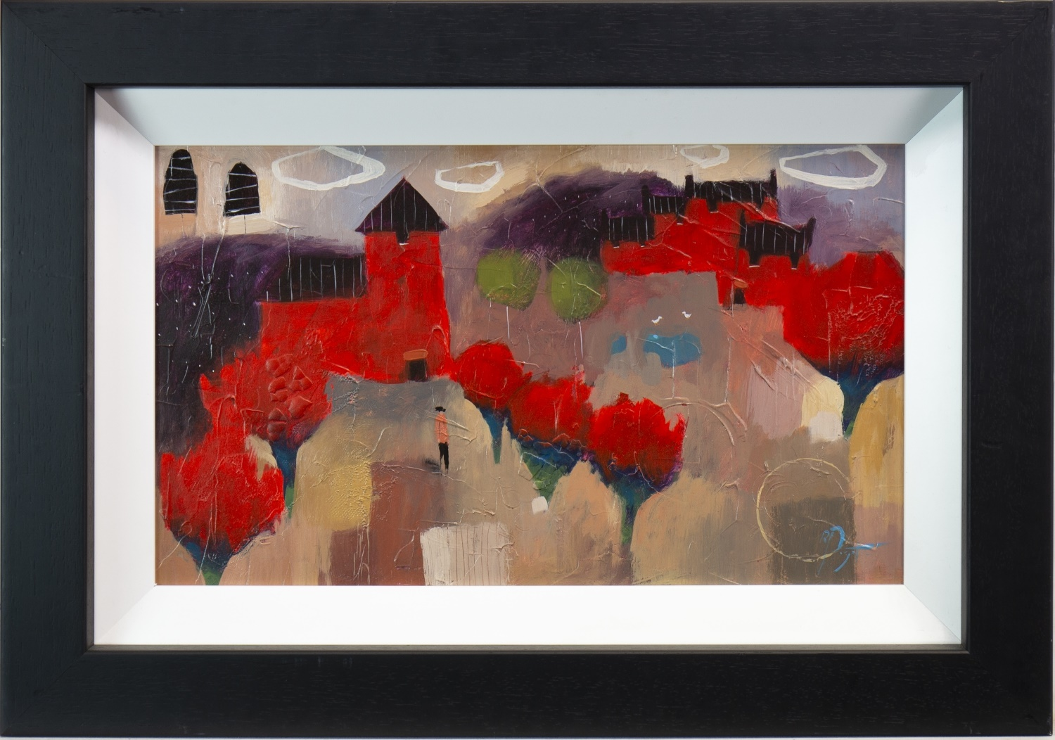 Lot 506 - SIENNA II, AN OIL BY RICHARD PARGETER