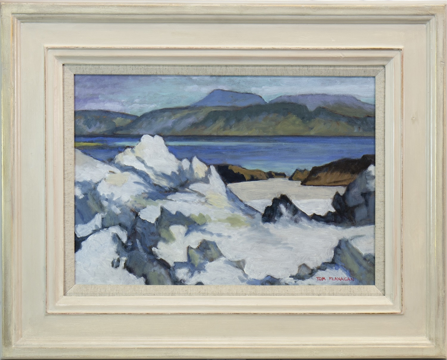 Lot 537 - WHITE SANDS, AN OIL BY TOM FLANAGAN
