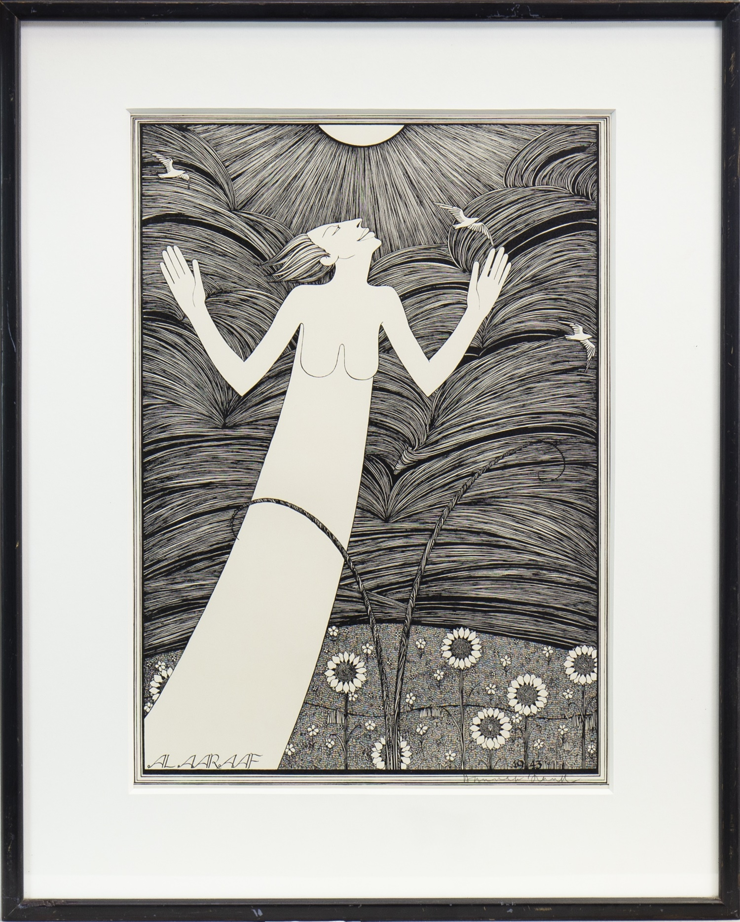 Lot 543 - SUN, A SIGNED LITHOGRAPH BY HANNAH FRANK