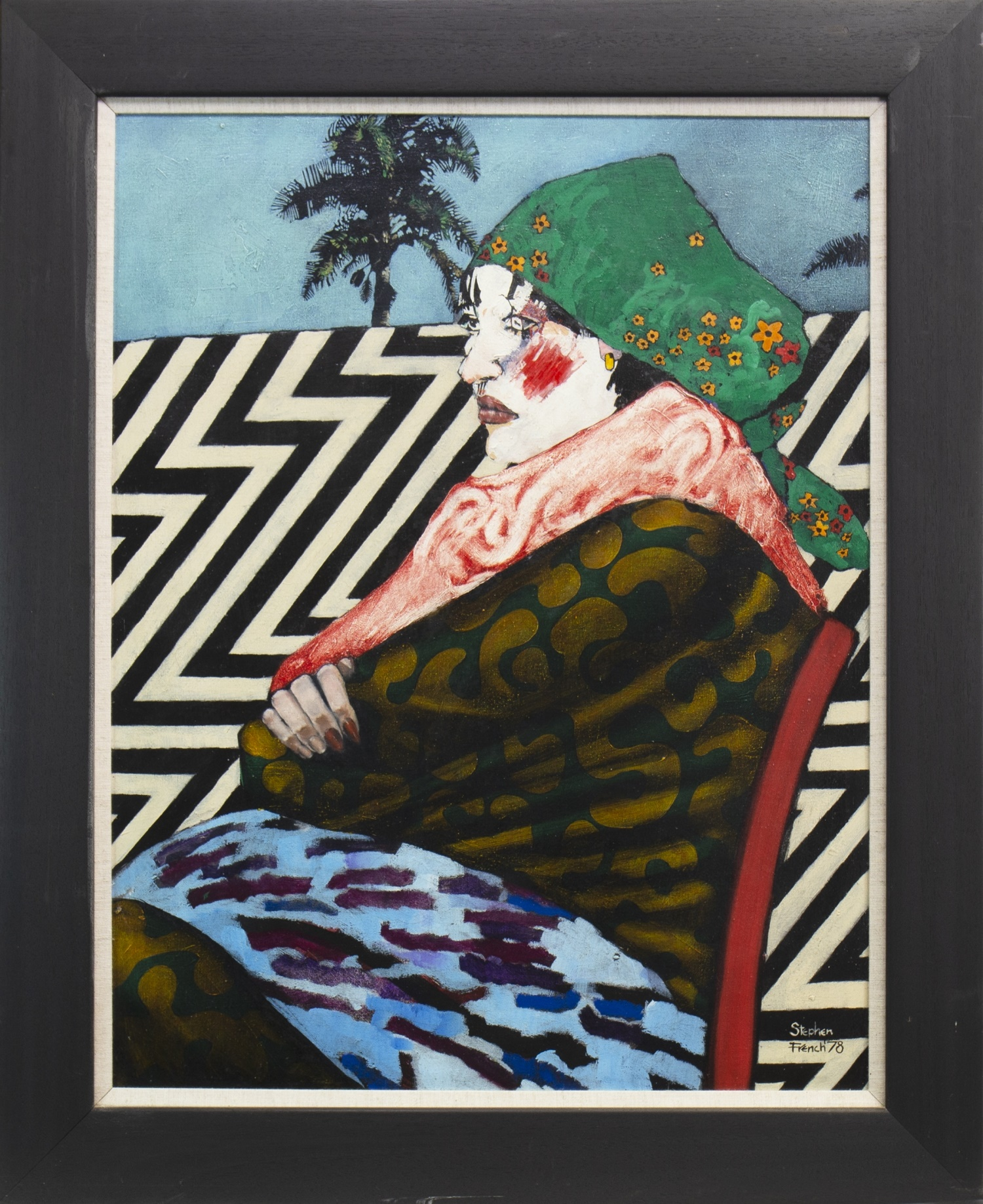 Lot 516 - HARLEQUIN, AN OIL BY STEPHEN FRENCH