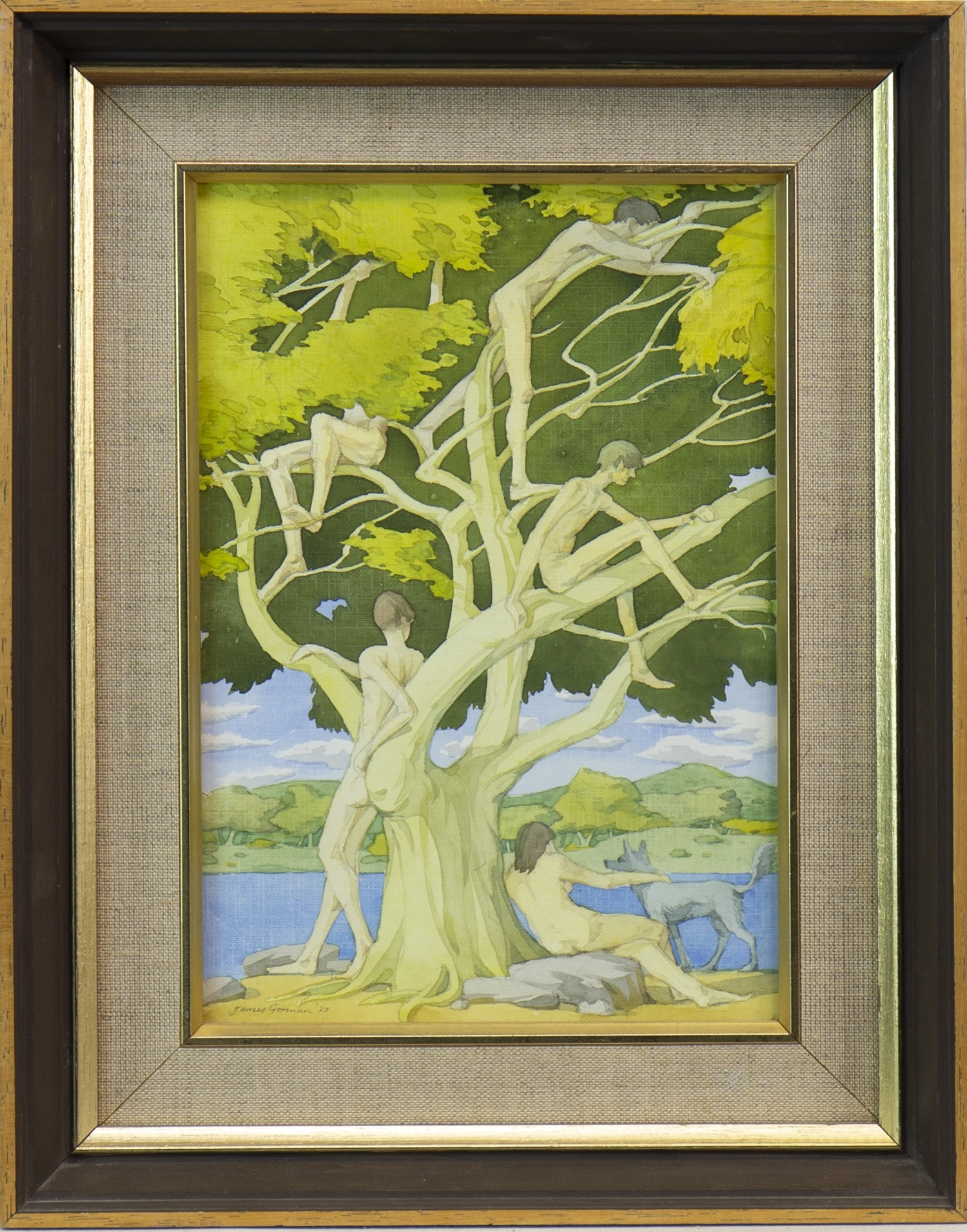 Lot 528 - THE TREE OF YOUTH, A WATERCOLOUR BY JAMES GORMAN