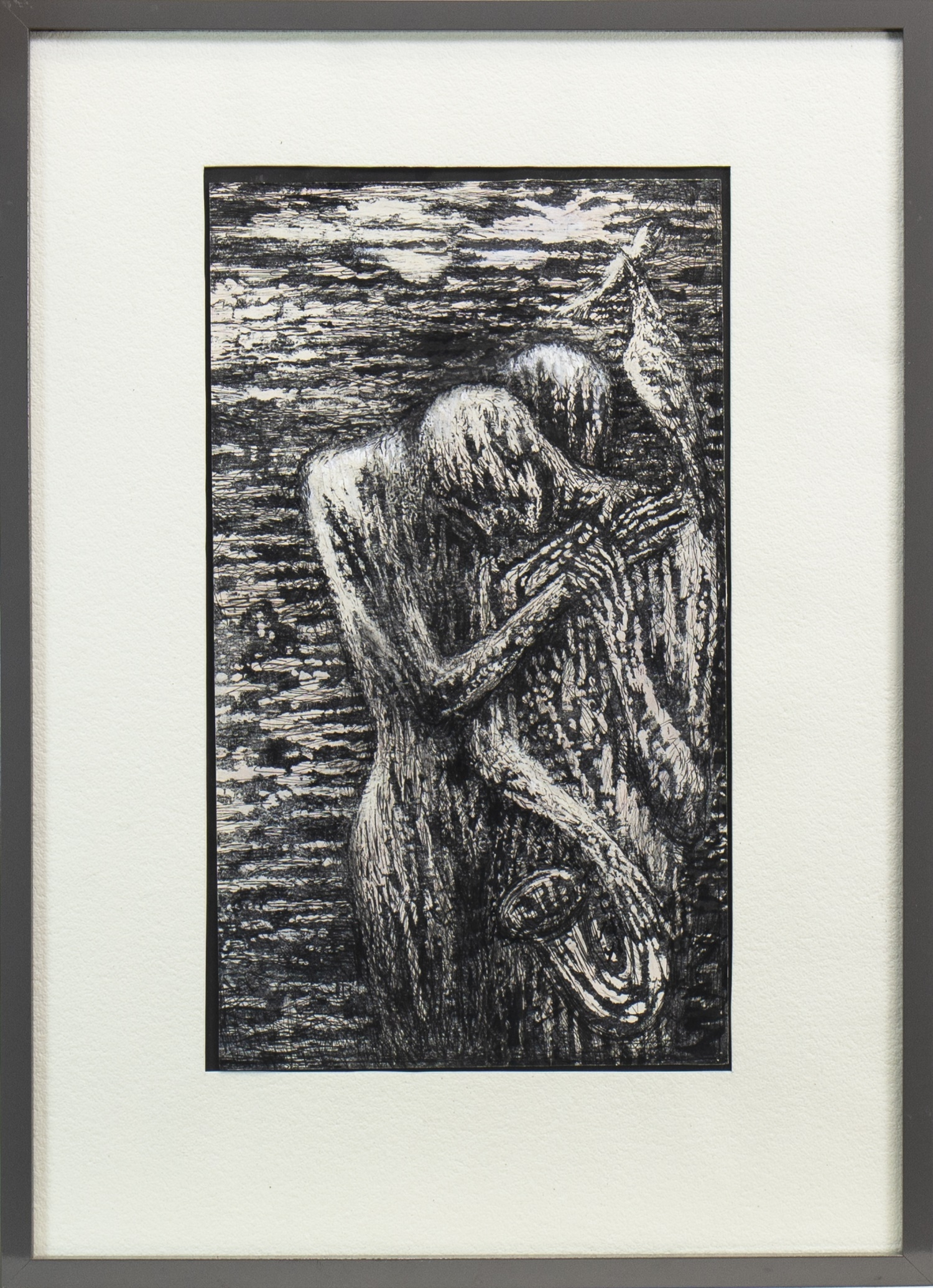 Lot 520 - BLUES BUDDIES II, AN INK AND WASH BY JOSEPH URIE