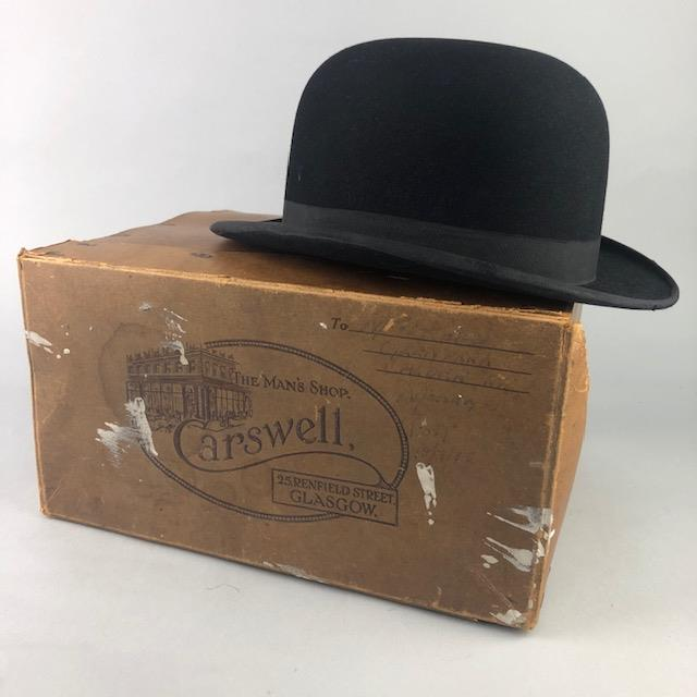Lot 27 - A BLACK TOP HAT ALONG WITH A BOWLER HAT