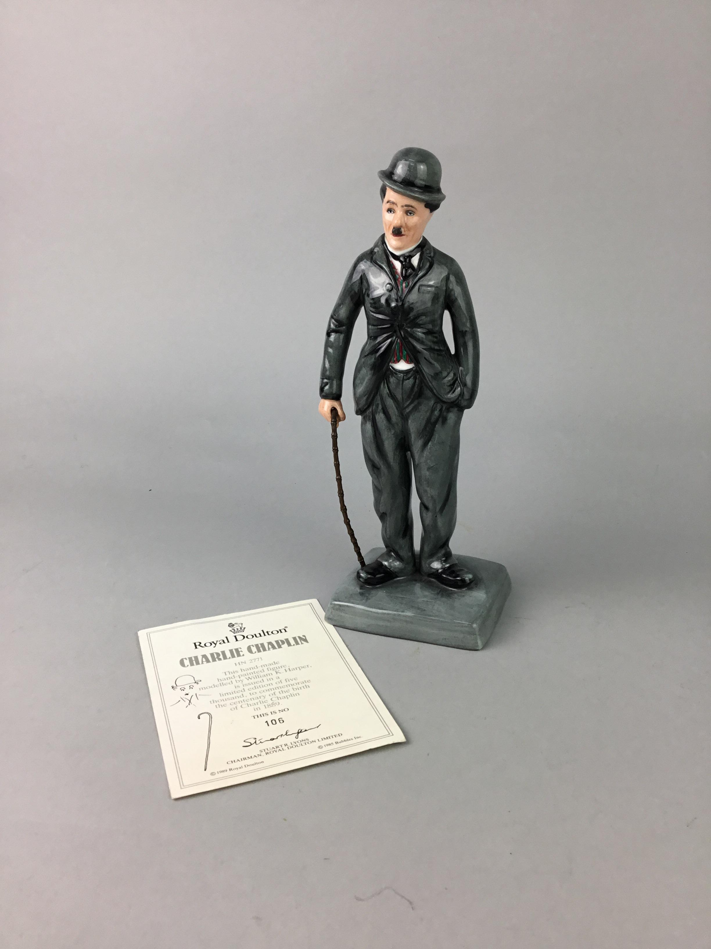 Lot 128 - A ROYAL DOULTON FIGURE OF CHARLIE CHAPLIN