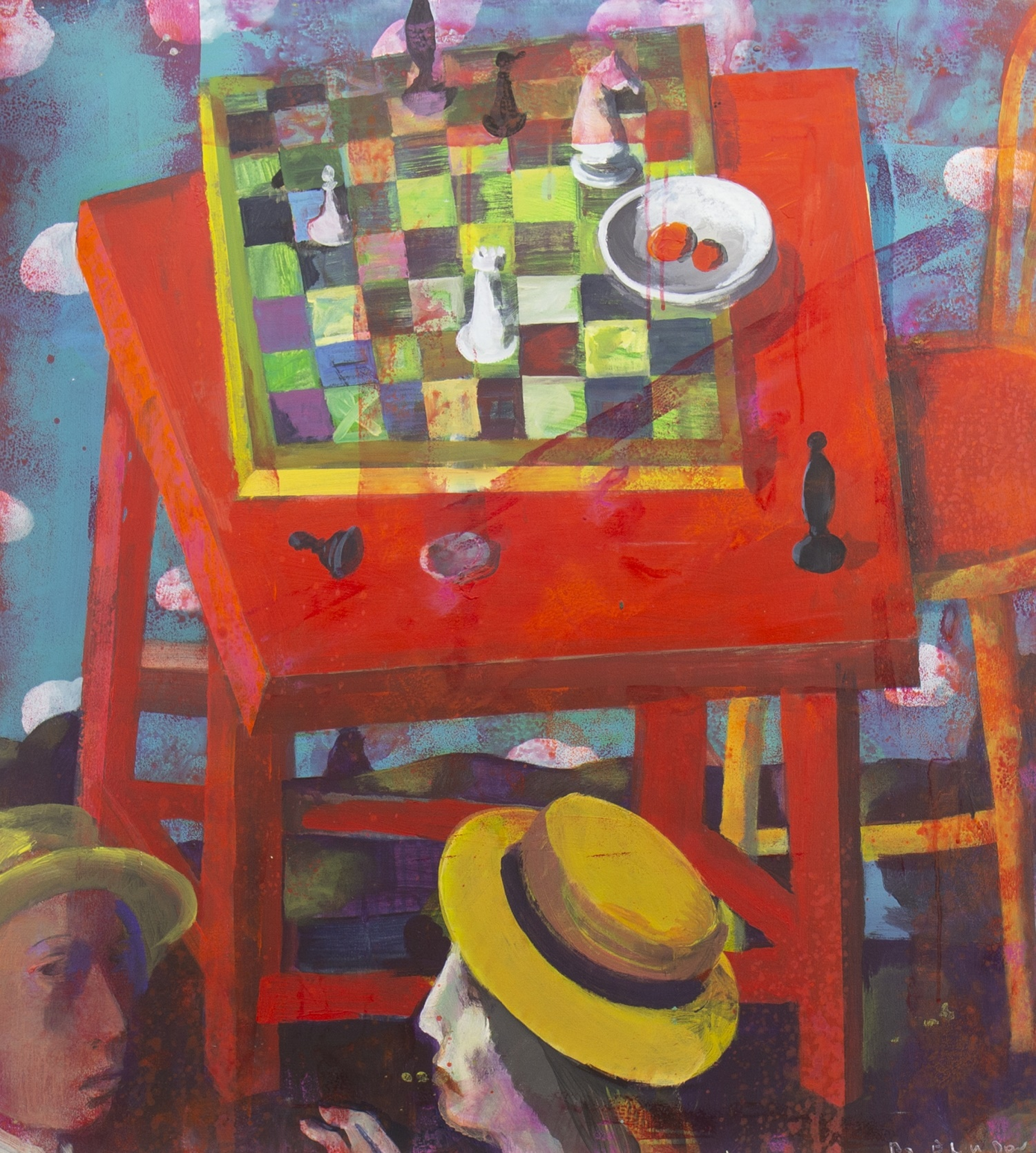 Lot 60 - STILL LIFE WITH CHESS, AN OIL BY ANDREI BLUDOV