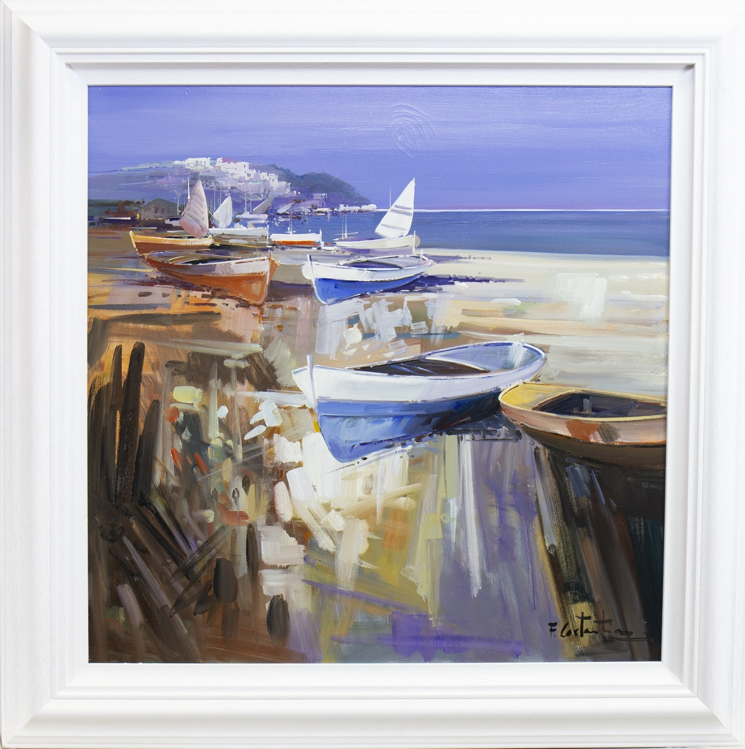 Lot 18 - SUMMER GETAWAY, AN OIL BY FABIO CONSTATINO